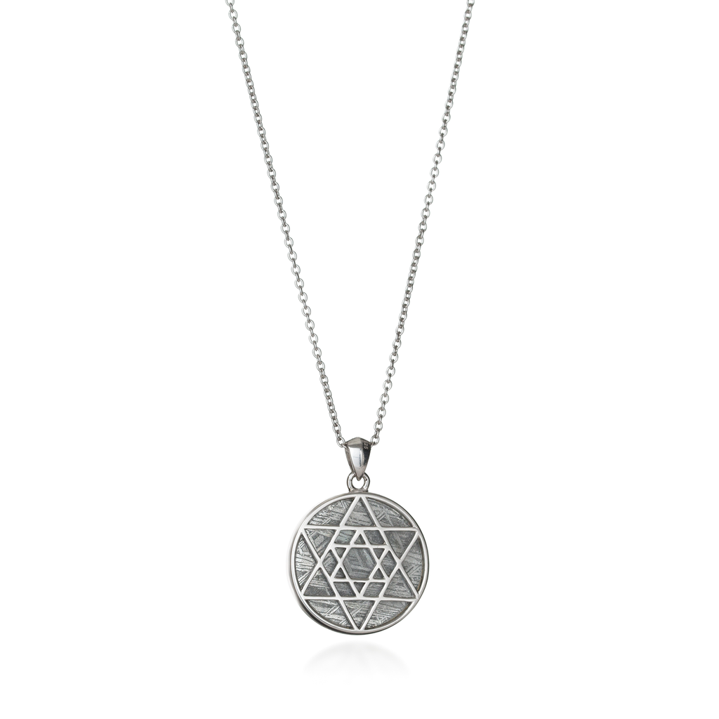 Star of David Meteorite Necklace