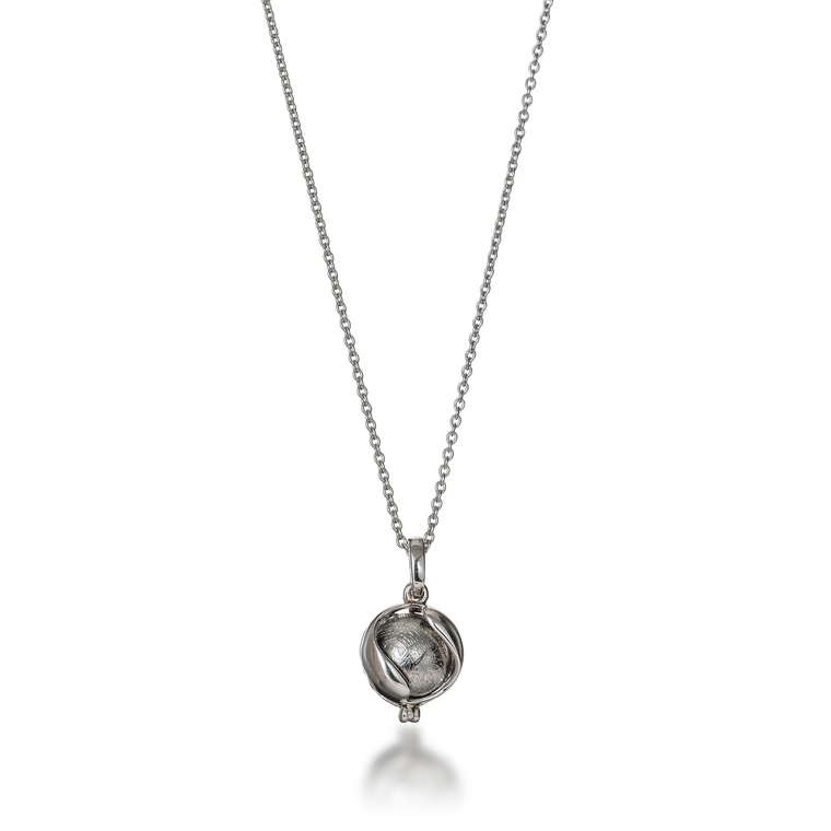 Meteorite Orbit Locket Necklace