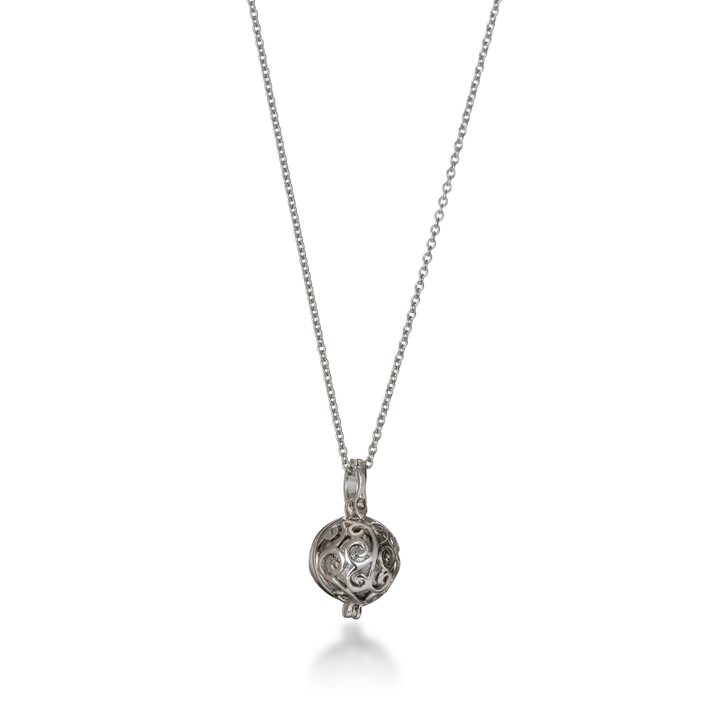 Meteorite Flower Locket Necklace