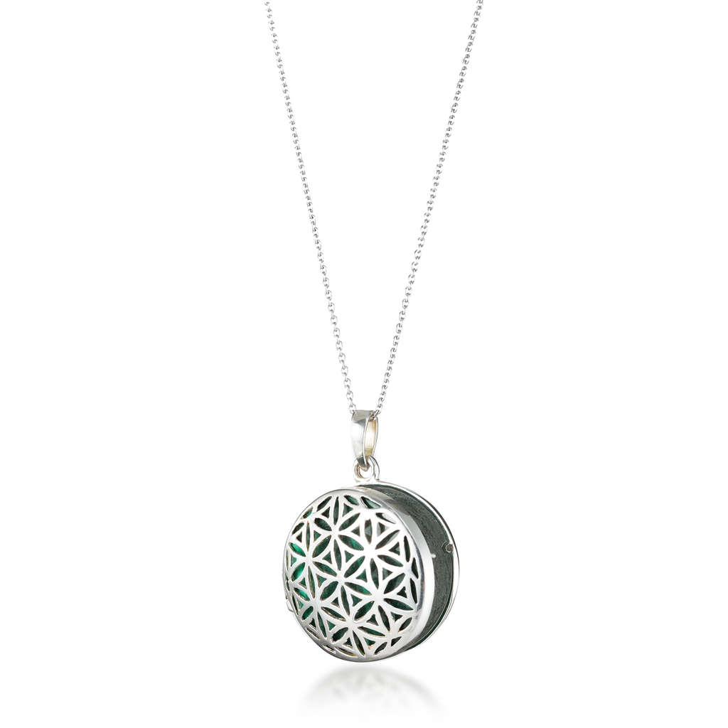 Flower of Life Locket Necklace