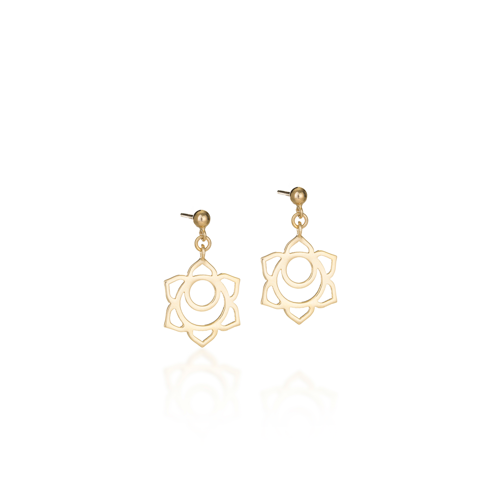 Sacral Chakra Yellow Gold Earrings
