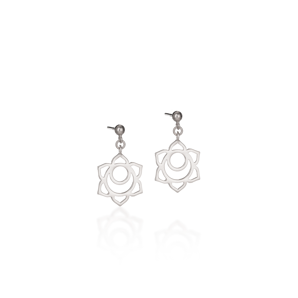Sacral Chakra Silver Earrings