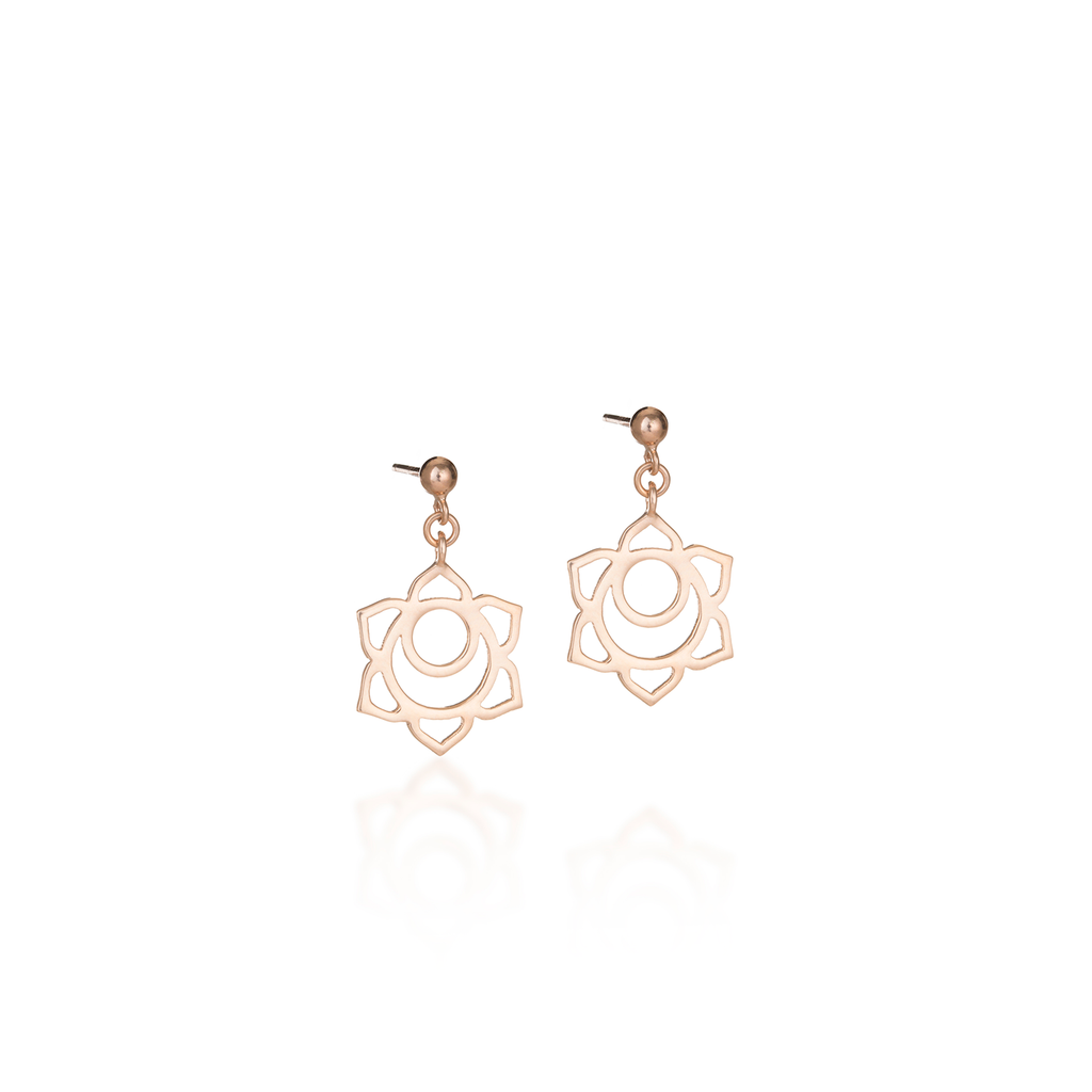 Sacral Chakra Rose Gold Earrings