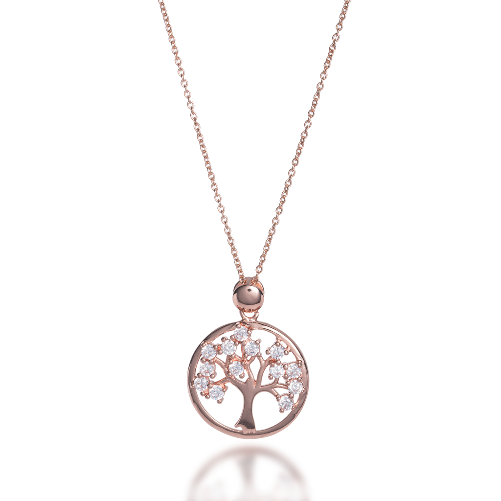 Tree of Life Necklace with CZ Stones
