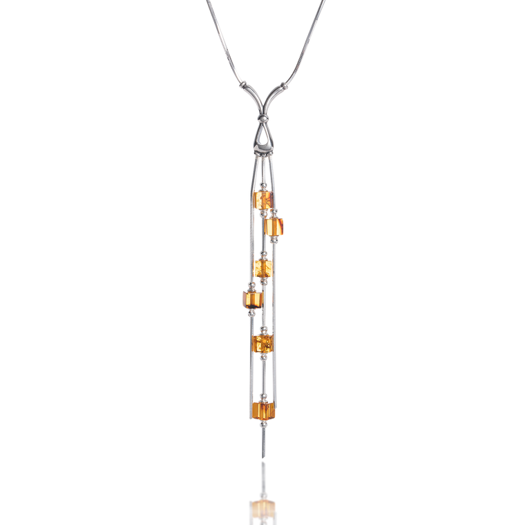 'Cynthia' Amber Necklace