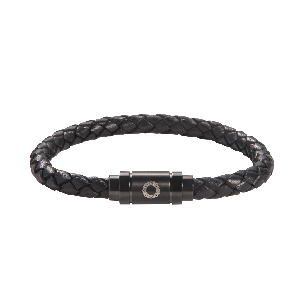Crown Chakra Leather Bracelet