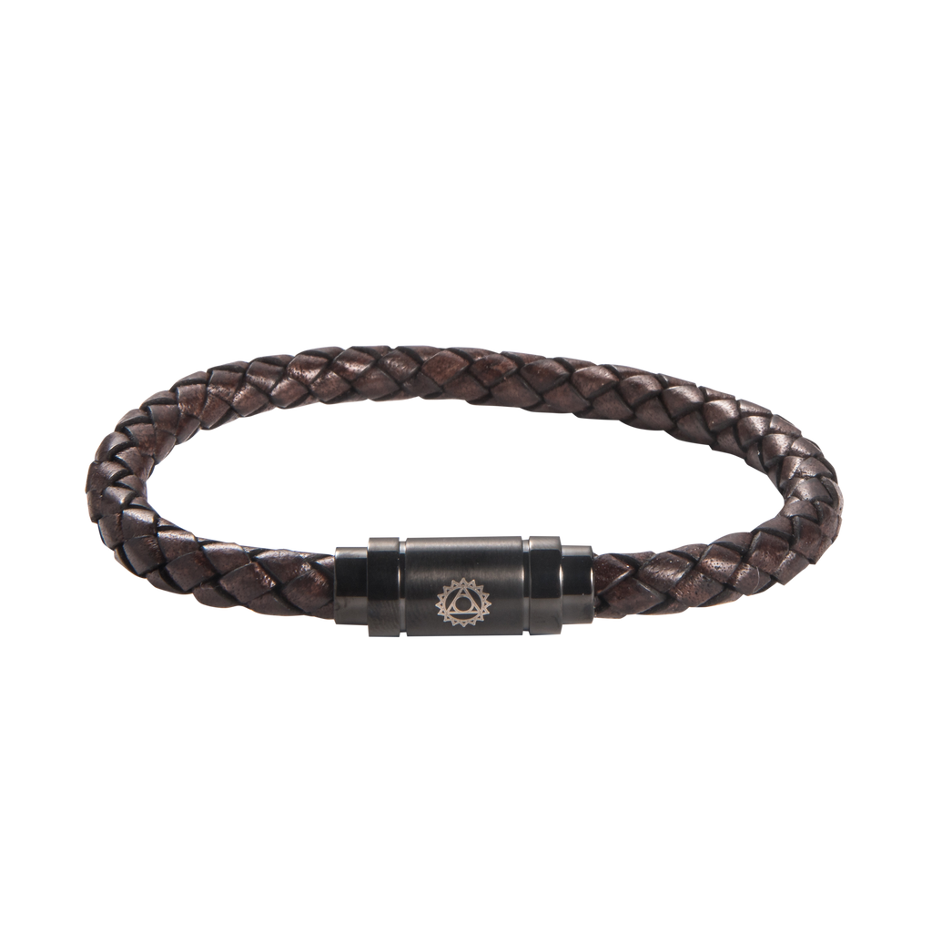 Throat Chakra Leather Bracelet