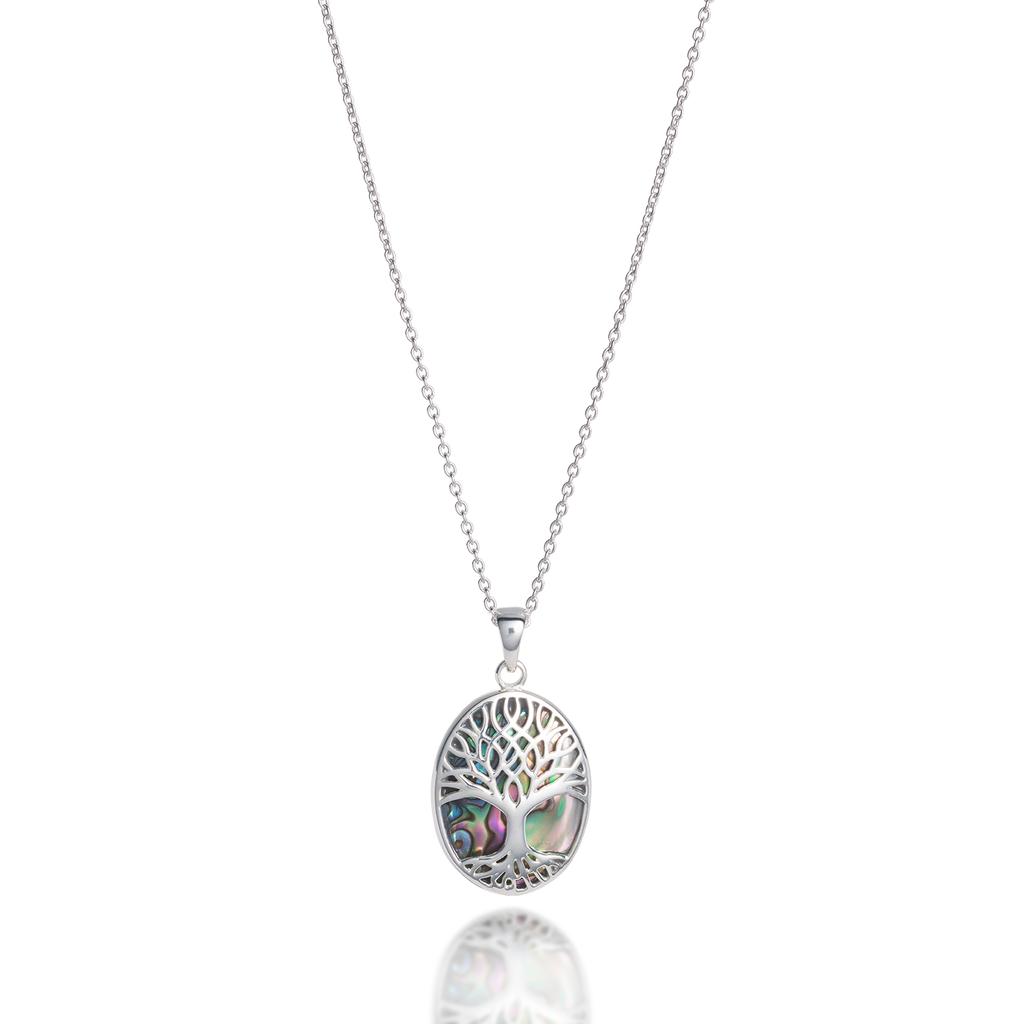 Tree of Life Abundant Paua Shell Necklace