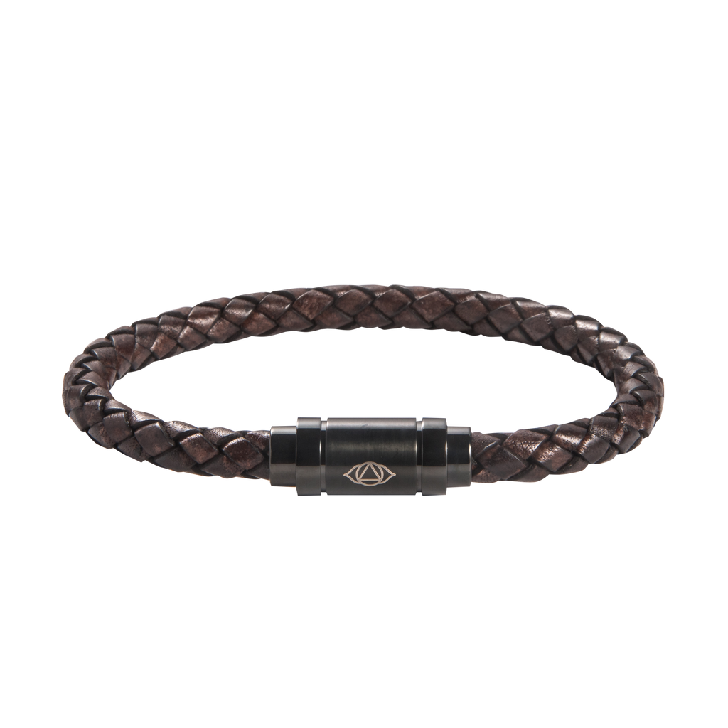 Brow Chakra Leather Bracelet