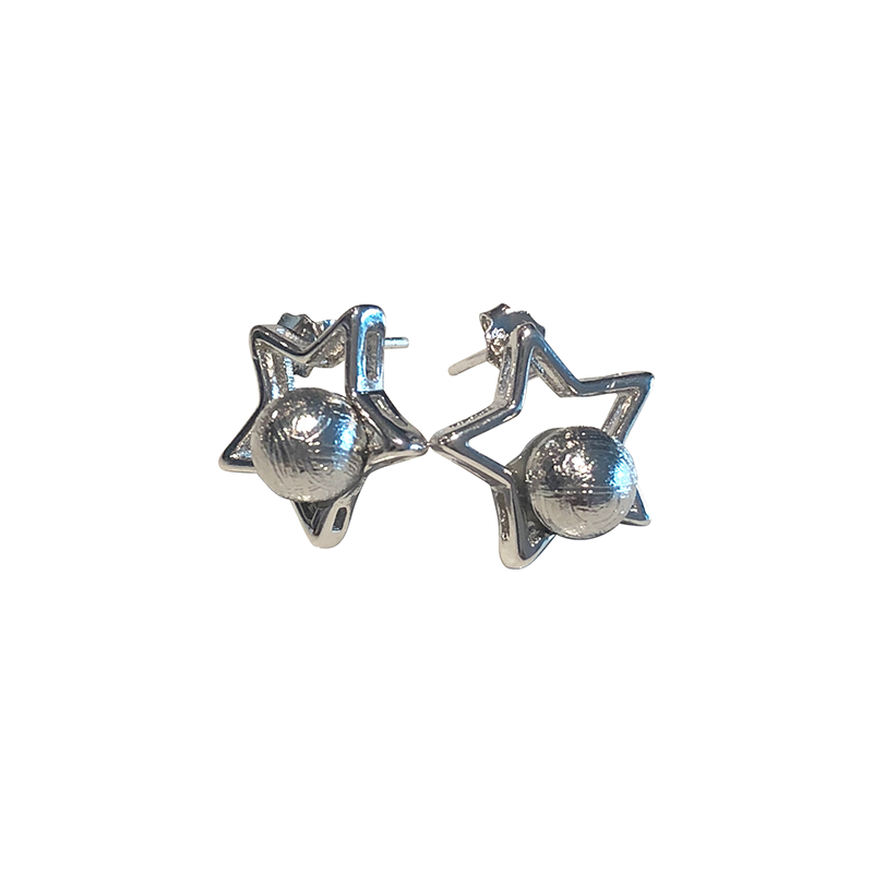 'Estrella' Meteorite Earrings