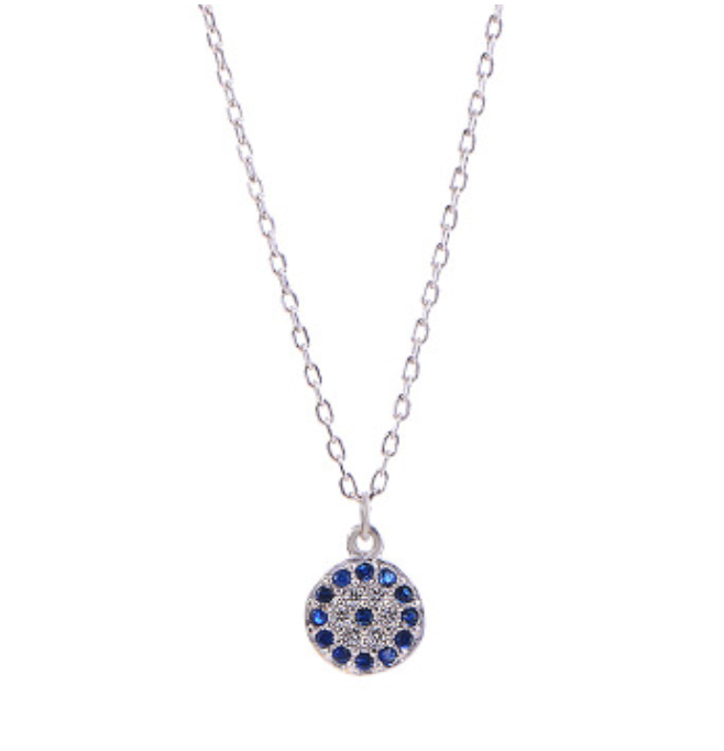 Classic Evil Eye Necklace with Cubic Zirconia Stones