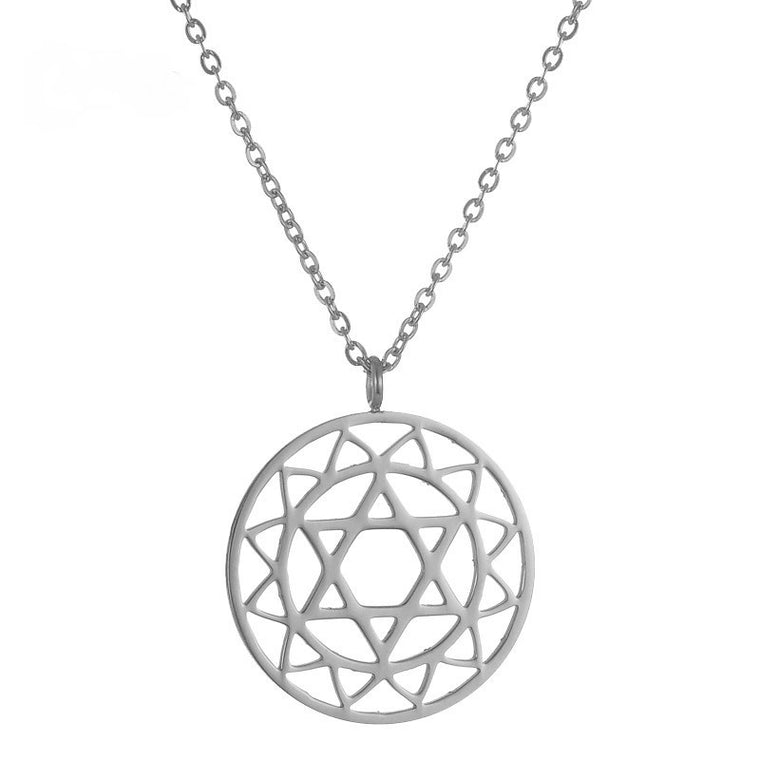 Heart Chakra Stainless Steel Necklace