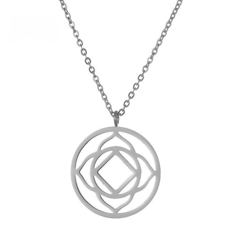 Root Chakra Silver Stainless Steel Necklace