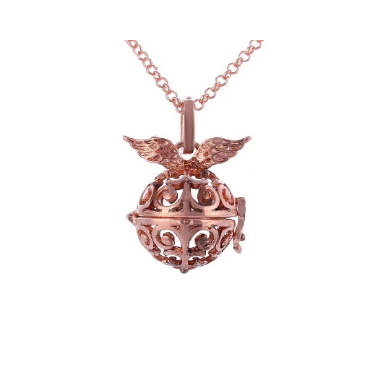 Globe with Wings Aroma Diffuser Necklace