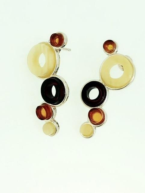 'Rafi' Amber Earrings
