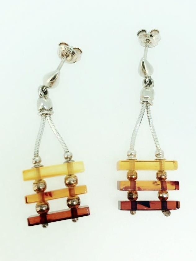 'Rebea' Amber Earrings