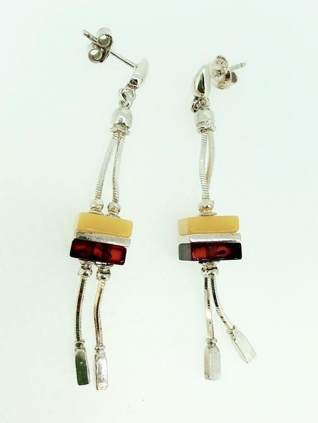 'Zabi' Amber Earrings