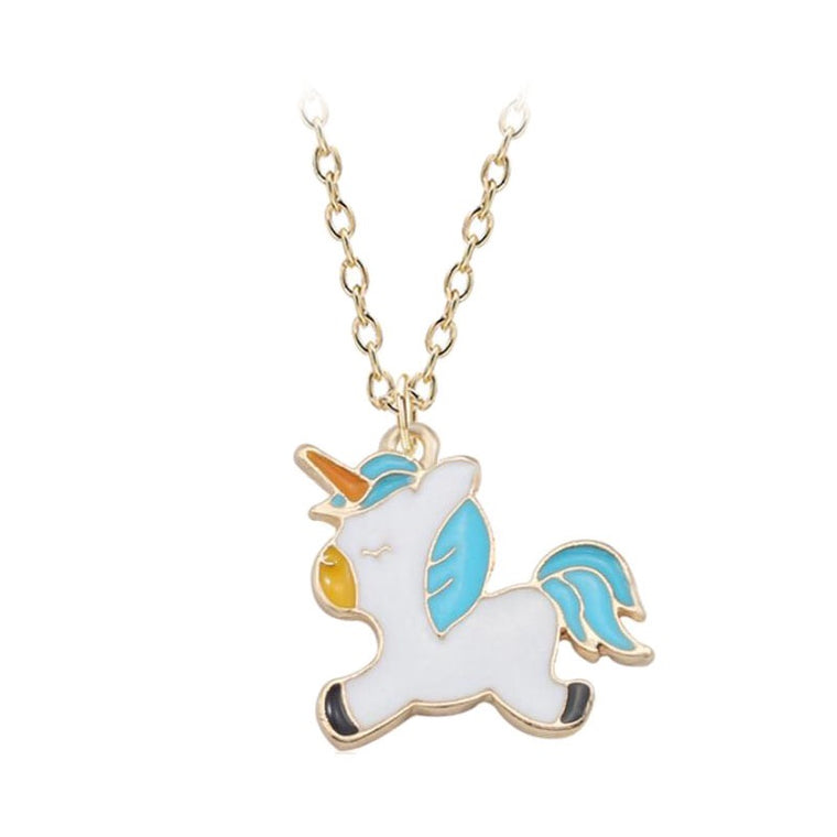 Sky Blue Unicorn Necklace