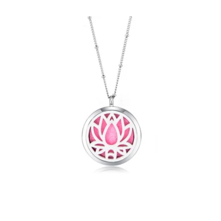 Lotus Aroma Lockets Necklace