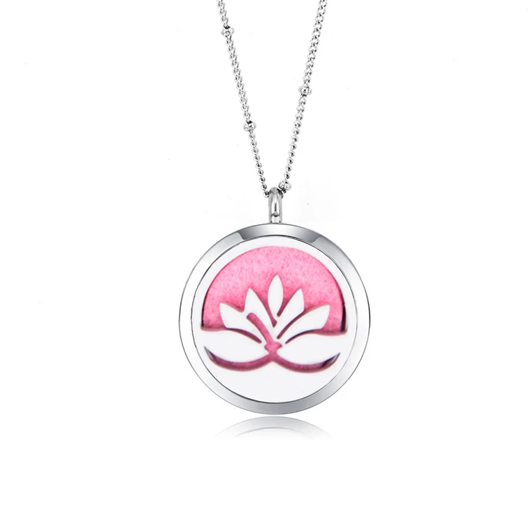 Lotus Aroma Diffuser Necklace