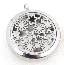 Stars and Flowers Aroma Diffuser Necklace