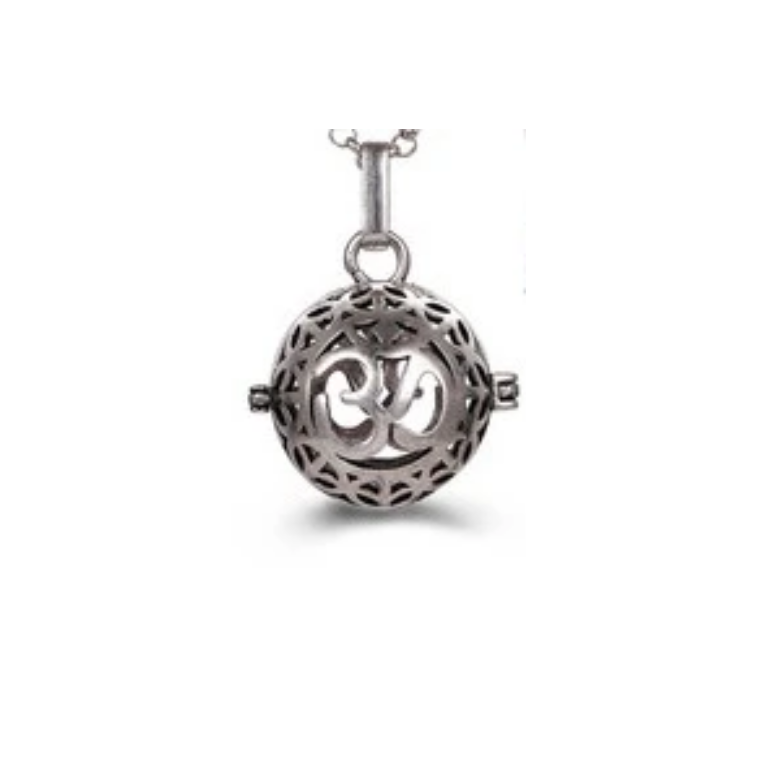 Om globe with Wings Aroma Lockets Necklace