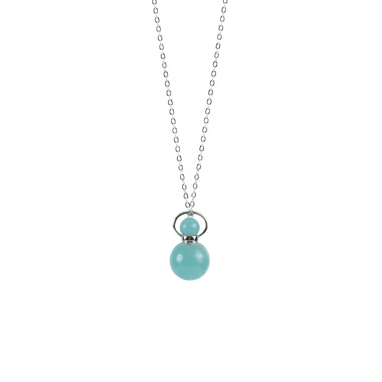 Amazonite Bottle Shape Essential Oil Diffuser Necklace