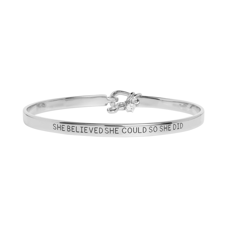 'She Believed She Could So She Did' Mantra Bangle