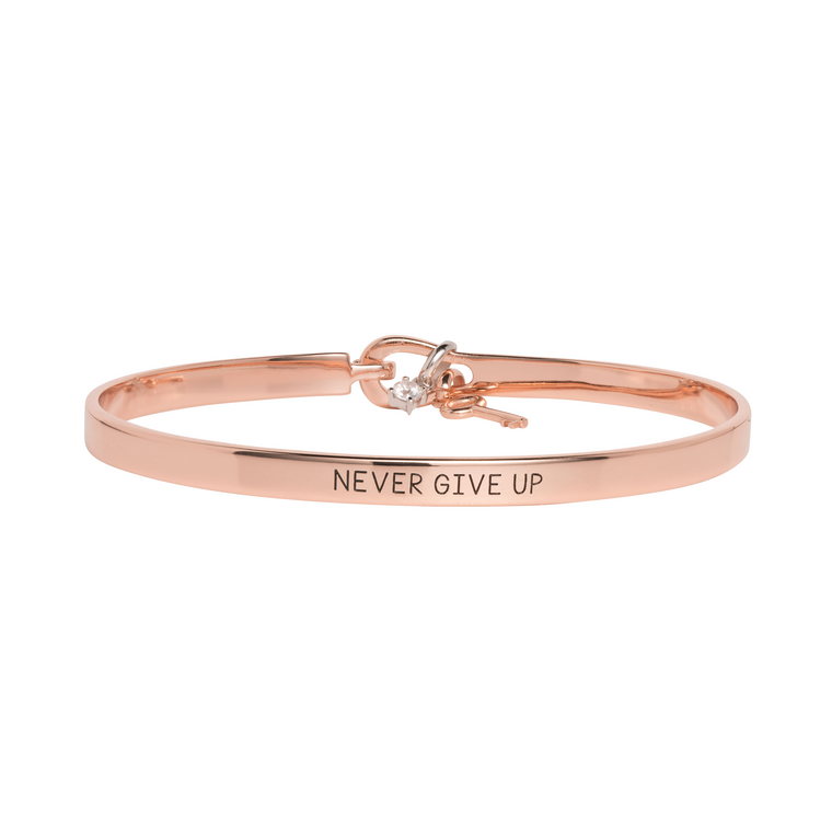 'Never Give Up' Mantra Bangle