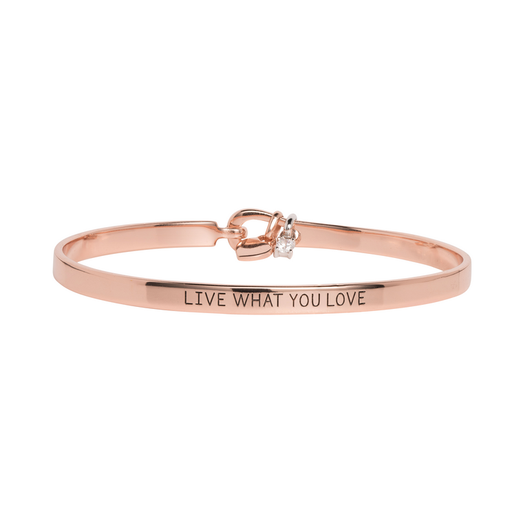 'Live What You Love' Mantra Bangle