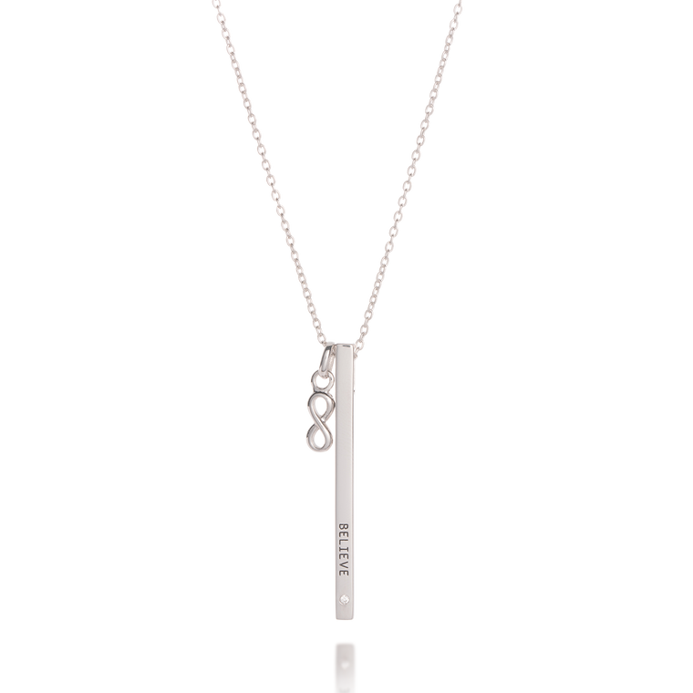 BELIEVE Bar Necklace