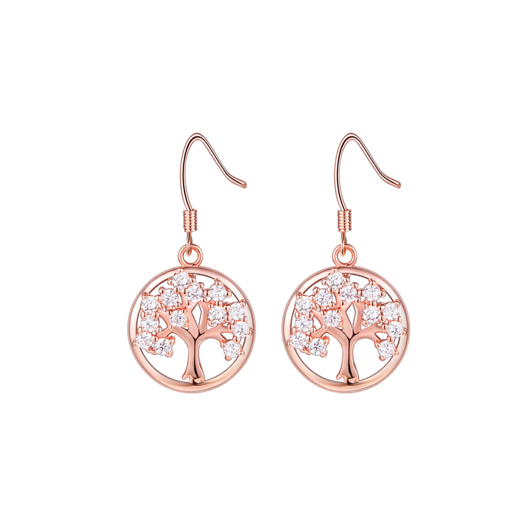 Tree of Life CZ stones Earrings