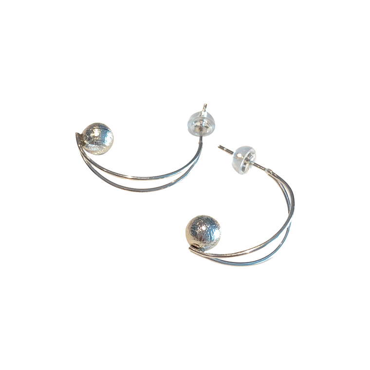 'Proteus' Meteorite Earrings
