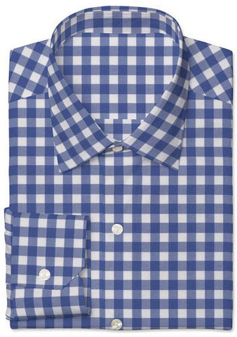 Blue Twill Large Gingham