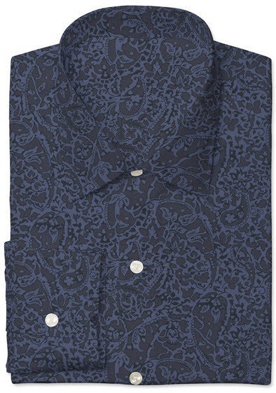 Blue/Navy Bay Laurel Print