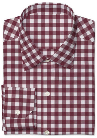Dark Red Twill Large Gingham