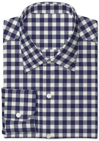 Navy Twill Large Gingham