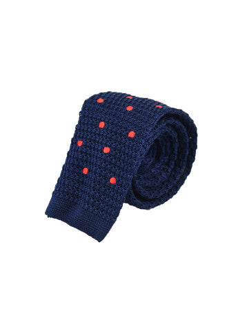 The Bluish Orange Polka Knit