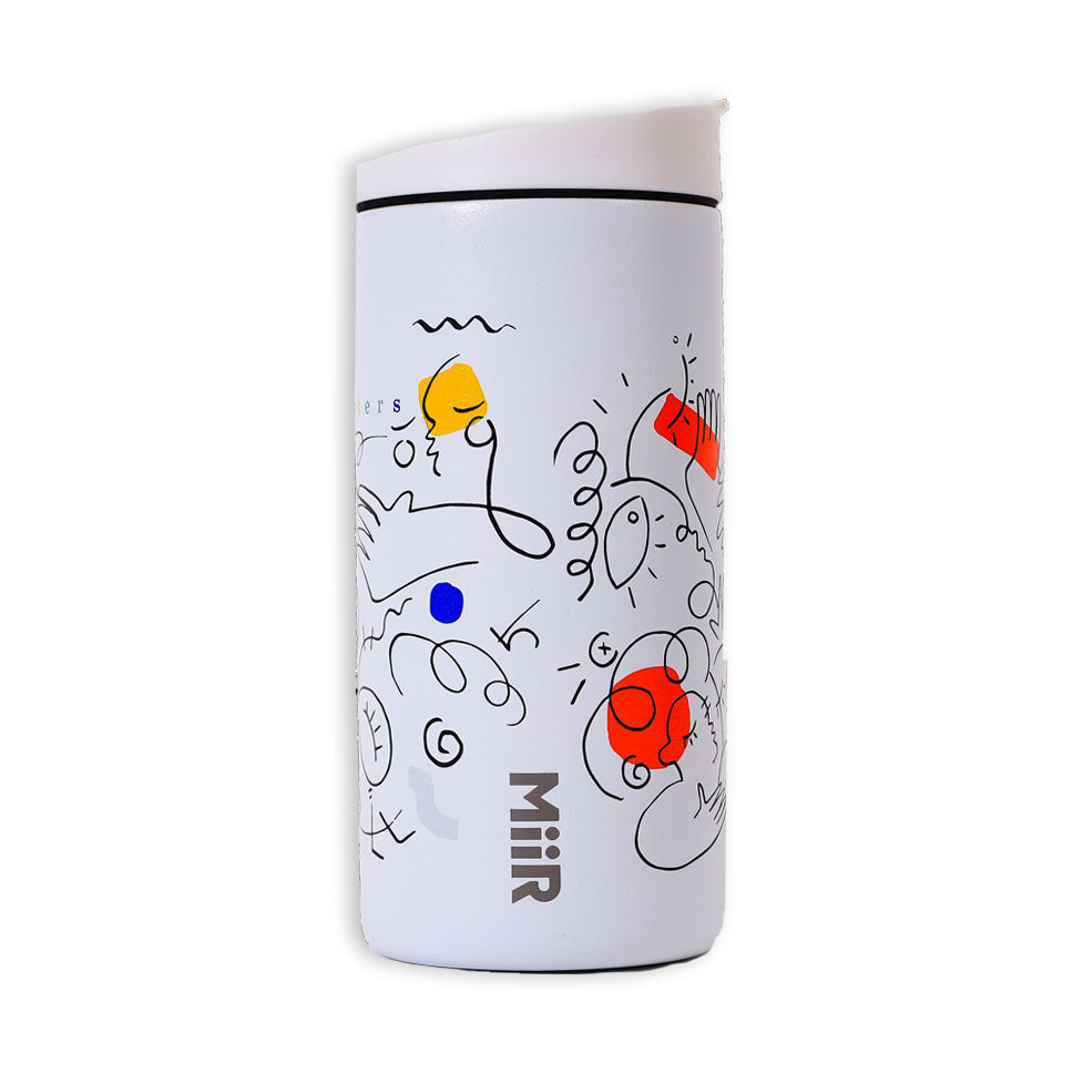 White Travel Tumbler