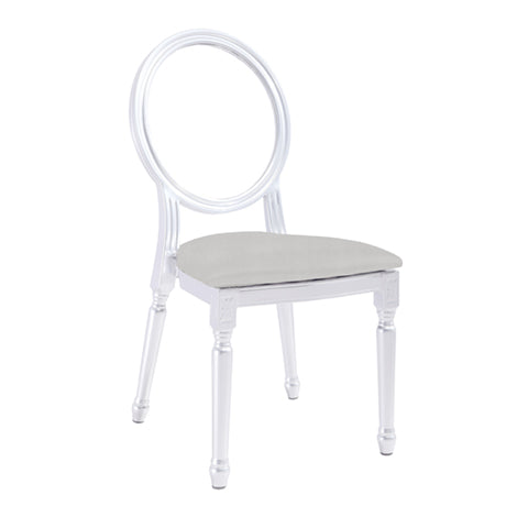 Louis XV Clear Medallion Chair