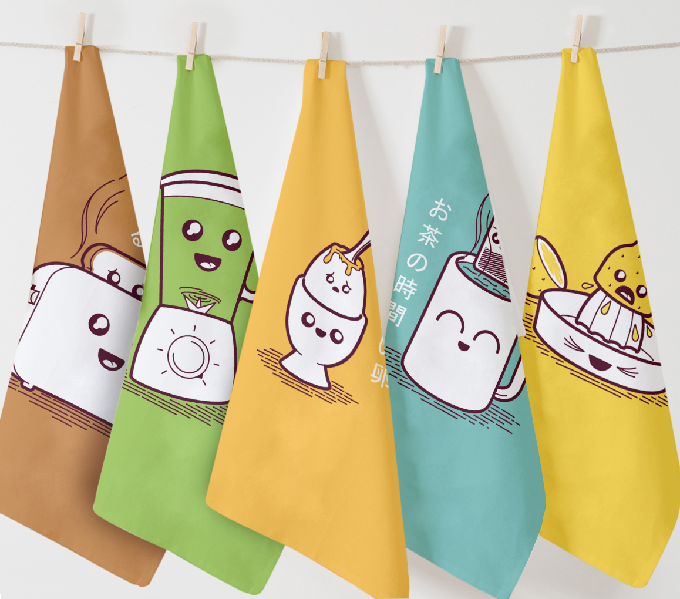 Kantan Living Exclusive Sale of the KickStarter Funded Kitchin Taoru (キッチンタオル) Twisted Japanese inspired tea towels