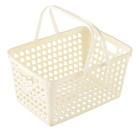 Basket WHITE with handle