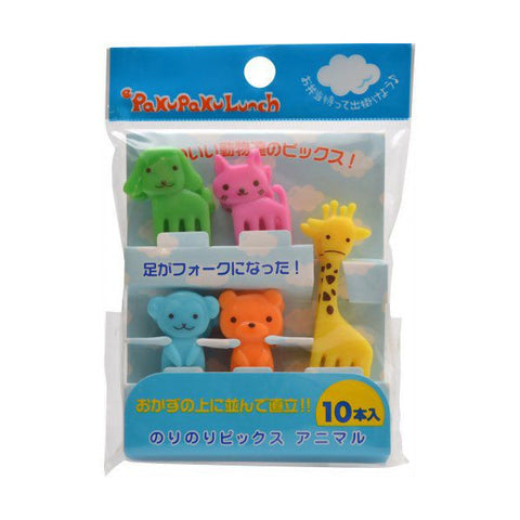 Japanese Bento Animal Kawaii Mini Fork Food Picks 10pc Lunch Box Accessory