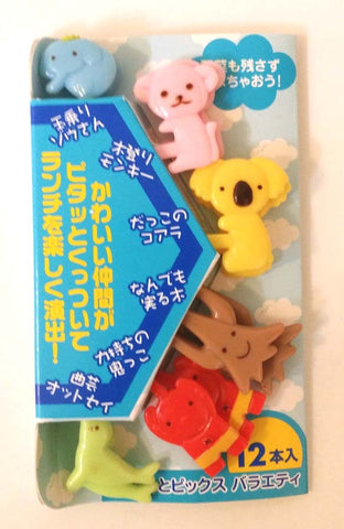 Bento food picks animal design 12pc set
