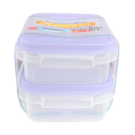Container with lid 2pc set M BLUE