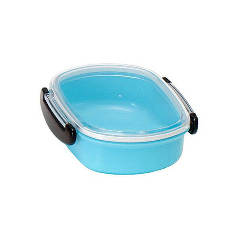 Bento lunch box round blue