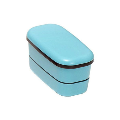 Glit and brillia G&B 2 layers Bento lunch box long BLUE