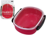 Bento lunch box round pink