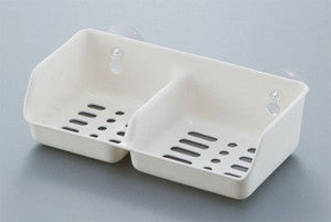 Cleaning utensil holder leaf WHITE