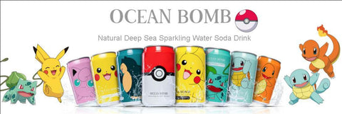 Pokemon Sparkling Water Soda Drink